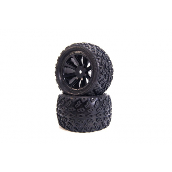 Dirt Crusher 2.2 Tires mounted[...]2.2 Black Wheels, Front & Rear