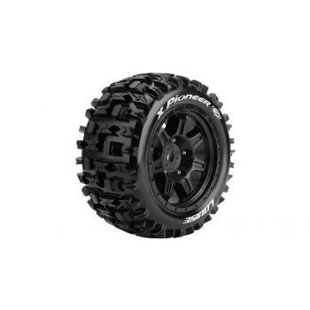Louise Rc MFT X-PIONEER MONSTER TRUCK TIRE SPORT / BLACK RIM HEX 24MM / MOUNTED L-T3296B