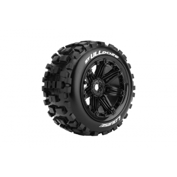 Louise Rc ST-ULLDOZE 1/8 STADIUM TRUCK TIRE SPORT / BLACK RIM HEX 17MM / MOUNTED L-T3288B