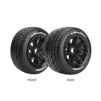 Louise Rc B-ROCKET 1/5 BUGGY REAR TIRE SPORT / BLACK RIM HEX 24MM / MOUNTED CLOSED CELL INSERT L-T3242B