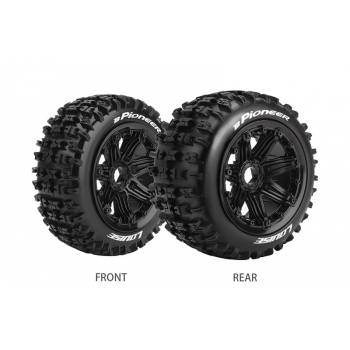 Louise Rc B-PIONEER 1/5 BUGGY REAR TIRE SPORT / BLACK RIM HEX 24MM / MOUNTED CLOSED CELL INSERT L-T3243B