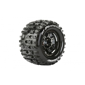 Louise Rc MFT 1/8 MT-PIONEER MONSTER TRUCK TIRE SPORT / 0 OFFSET BLACK RIM HEX 17mm / MOUNTED L-T3321B