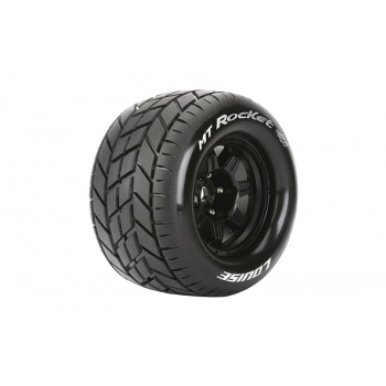Louise Rc MFT 1/8 MT-ROCKET MONSTER TRUCK TIRE SPORT / 1/2 OFFSET BLACK RIM HEX 17mm / MOUNTED L-T3320BH
