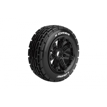 Louise Rc B-ORBIT 1/5 BUGGY FRONT TIRE SPORT / BLACK RIM HEX 24MM / MOUNTED CLOSED CELL INSERT L-T3265B