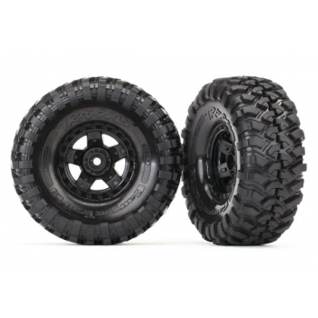 """Tires and wheels, assembled, glued (TRX-4 Sport 1.9"""" wheels, Canyon Trail 4.6x1.9"""" tires) (2) TRA8179"""